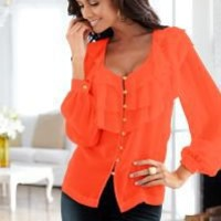 Ruffle detail blouse by VENUS