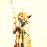 WiSE ONE (Yoda of Star Wars) - Digital Art Print - MULTIPLE SiZES AVAiLABLE