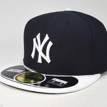DCK4S2 NEW ERA 59FIFTY CAP NEW YORK YANKEES HM DIAMOND ERA BATTING PRACTICE FITTED HAT