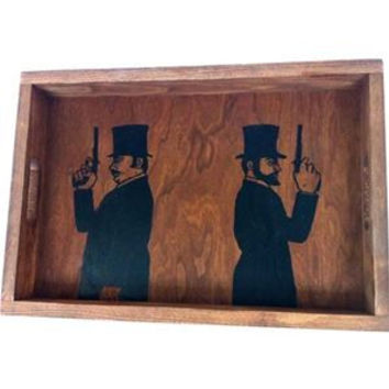 Two Guns Serving Tray