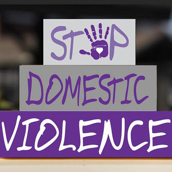 Domestic Violence Awareness, Stop Domestic Violence, Domestic Violence Blocks,  Wooden Blocks, Block Stack Set, Domestic Violence Desk Decor