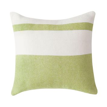 Sydney Herringbone Stripe Pillow | Lemongrass