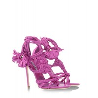 Brian Atwood: Yuna Knotted Braided Leather Sandal