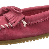 Minnetonka Slippers Women Hello Kitty Suede Kilty 7 Hot Pink 605K