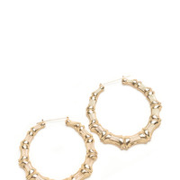 Happy Panda Bamboo Hoop Earrings GoJane.com