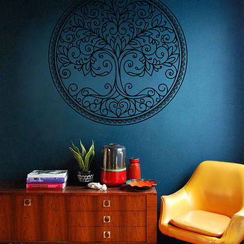 tree of Life wall decals Tree Decor Celtic wall decals for Living Room for Yoga Studio Decor kik3334