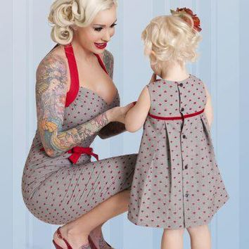 Bettie Page Clothing Lil Anchors Dress Kids Clothing Dresses at Broken Cherry