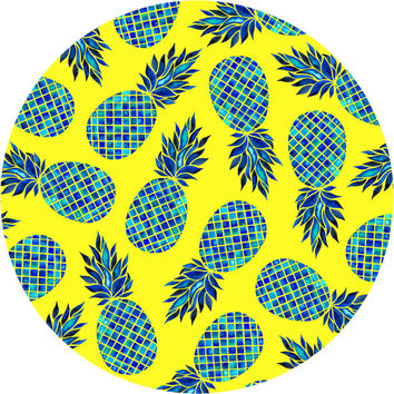 Pineapple Lush Circle Wall Decal