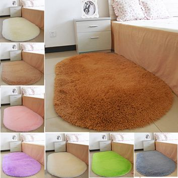 1Pcs Bathroom Carpets Oval Absorbent Soft Memory carpets for living room tapis salon Floor Rugs Non-slip Bath Mats