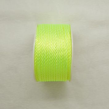 Free shipping 10mtrs/Lot Vintage Shine Green 3mm Nylon Braide Persian Cord Macrame&Craft Yarn
