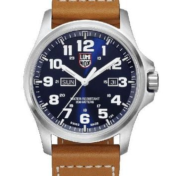 Luminox Mens Atacama Field Day Date 1920 Series - Blue Dial  - Leather Strap
