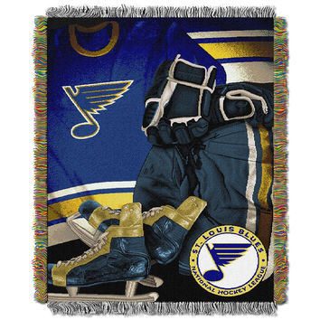 St. Louis Blues NHL Woven Tapestry Throw (Vintage Series) (48x60)