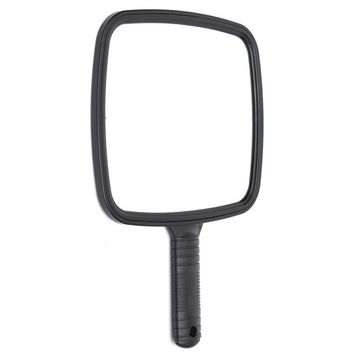 Makeup Mirror Black Square Handheld Toilet Table Cosmetic Looking-glass