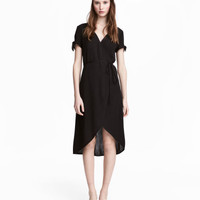 H&M Crêped Wrap-front Dress $29.99