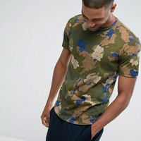 United Colors of Benetton T-Shirt In Camo Print at asos.com