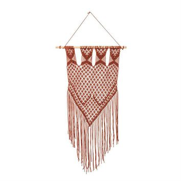 Burnt Orange Cotton Tapestry