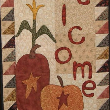 Welcome Fall Quilted Wallhanging