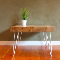 Locally salvaged Elm slab side table with by TheDesignPallet