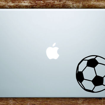 Soccer Ball Laptop Apple Macbook Quote Wall Decal Sticker Art Vinyl Sports Fifa Futbol Football Teen