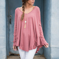 Ruffles In Rome Top, Rose