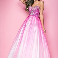 Pink by Blush 5202 Ombre Ball Gown