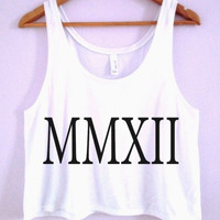 "5SOS Calum ""MMXII"" Tattoo Crop-Top"