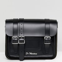 Dr Martens 11 Leather Satchel in Black at asos.com