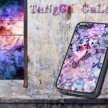 iphone case,cat family galaxy cracked nebula,iphone 5 case,iphone 4/4s case,samsung s3,s4 case,accesories,cell phone,hard plastic.