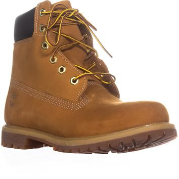 Timberland 6-Inch Premium Lace Up Boots, Wheat Nubuck, 9.5 US / 41 EU