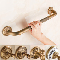 Shipping Brass Antique Bath Bathroom Grab Bar Support Handle Safe Shower Tub Helping Handgrip Older People Keeping Balance