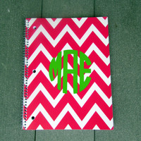 Monogrammed Chevron Notebook for Back to School, College, and Work!