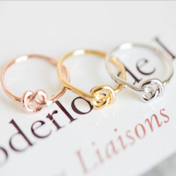 Best Knot Ring Etsy Products on Wanelo
