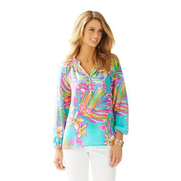 Elsa Top - Summer Haze Blue - Lilly Pulitzer