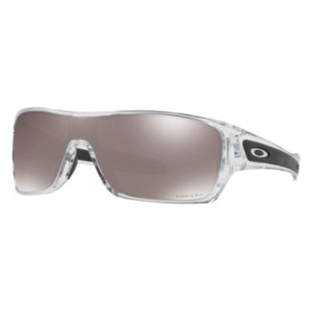 Oakley Turbine Rotor Sunglasses Polished Clear Frame Black Polarized OO9307-16