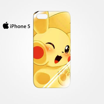 Pikachu in Trap of Glass for Iphone 4/4S Iphone 5/5S/5C Iphone 6/6S/6S Plus/6 Plus 3D Phone case