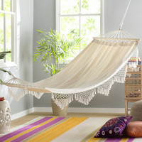 Douane Fringed Cotton Tree Hammock