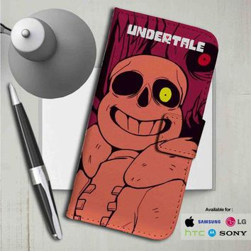 Undertale Megalovania Leather Wallet iPhone 4/4S 5S/C 6/6S Plus 7| Samsung Galaxy S4 S5 S6 S7 NOTE 3 4 5| LG G2 G3 G4| MOTOROLA MOTO X X2 NEXUS 6| SONY Z3 Z4 MINI| HTC ONE X M7 M8 M9 CASE