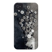 Spilled Button Film Photograph iPhone 4/4S Case. from Zazzle.com