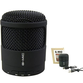 G-MiC Premium Mega Bass Bluetooth Portable Compact Active Speaker-Superior Sound Quality Extended Wireless Range Highly Durable with Modern Rugged Design Perfect for Family Outings Road Trips