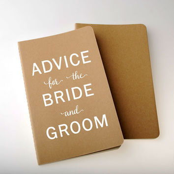 Large Advice For the Bride and Groom Book -  Moleskine, Custom, Vinyl, 5 Colors to Choose From