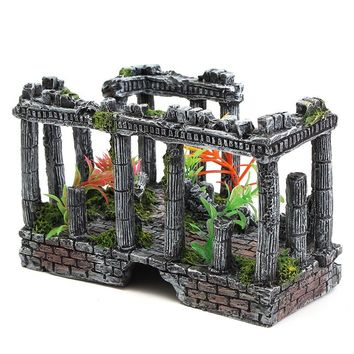 Ancient Roman Ruins Ornament Aquarium Fish Tank Terrarium Miniatures