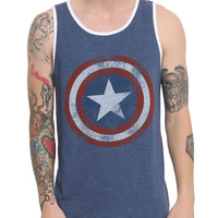 Marvel Captain America Logo Tank Top