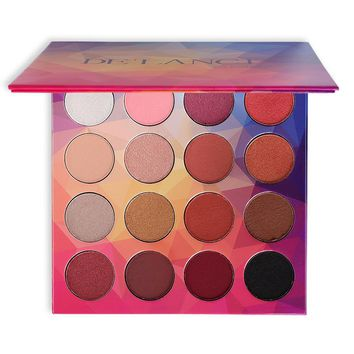 DE'LANCI Brand 16Colors Eyeshadow Palette Matte Diamond Glitter Eye Shadow Wet Powdered Makeup Palette for Beauty