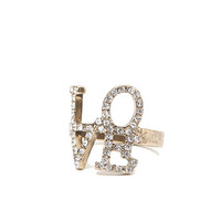 With Love From CA Pave Love Ring at PacSun.com