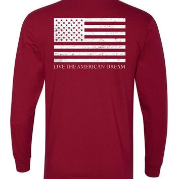 'Live the American Dream' Long Sleeve Tee