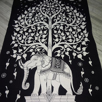 Hippie Elephant Tapestry-Hippie Wall Hanging