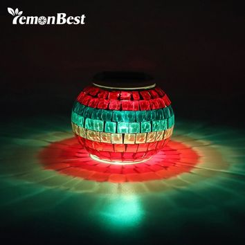 IP65 Glass Ball LED RGB Solar Garden Lights for Landscape Lawn Beach Holiday Christmas Party Decoration Outdoor Lighting