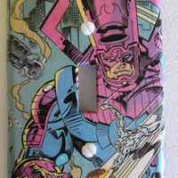 Comic Silver Surfer Galactus Switch plate