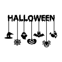 Creative halloween decoration wall stickers