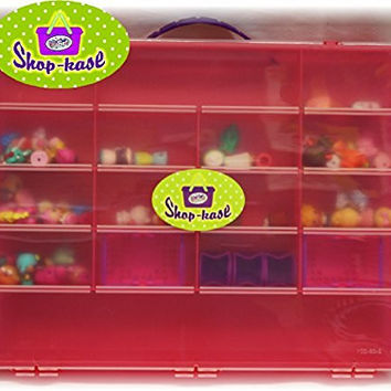 Matty's Toy Stop Shop-Kase - Shopkins Compatible Storage Container, Organizer & Carry Case - Pink